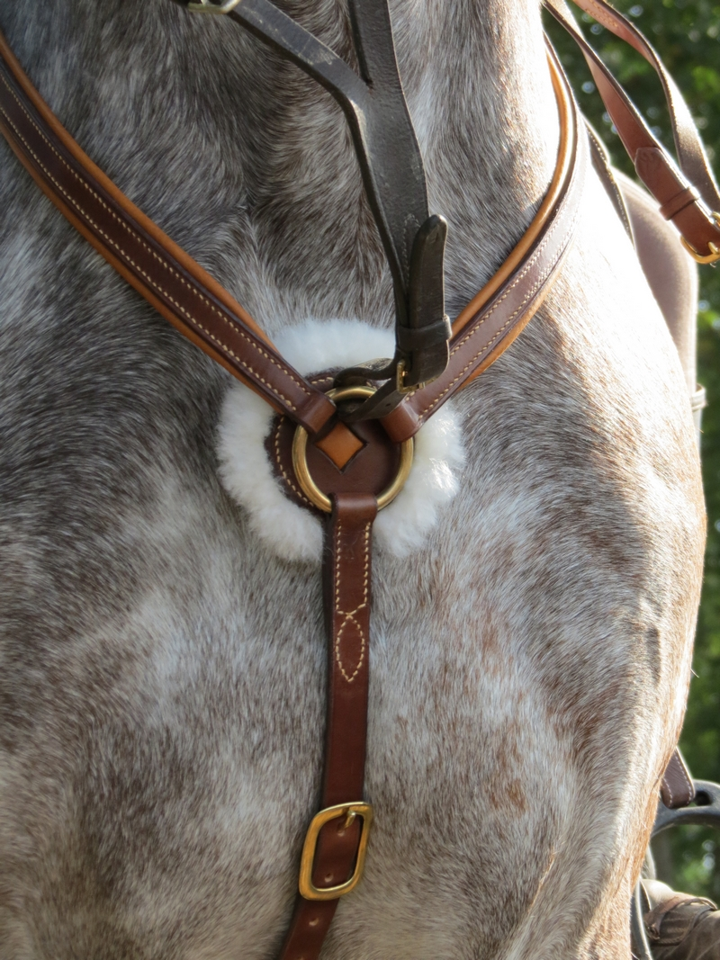 collier de chasse cuir doublé mouton 2