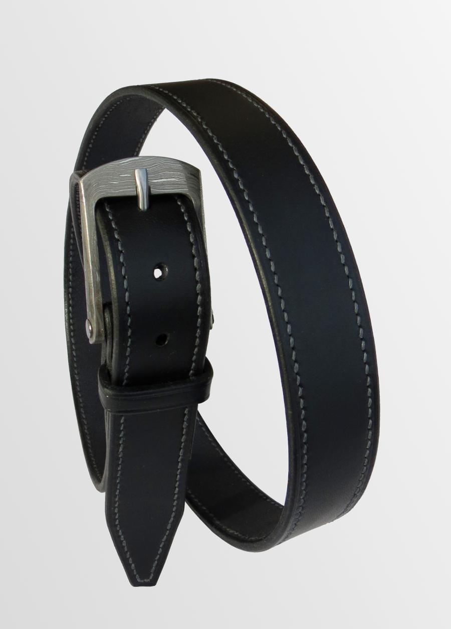 ceinture boucle damas cuir