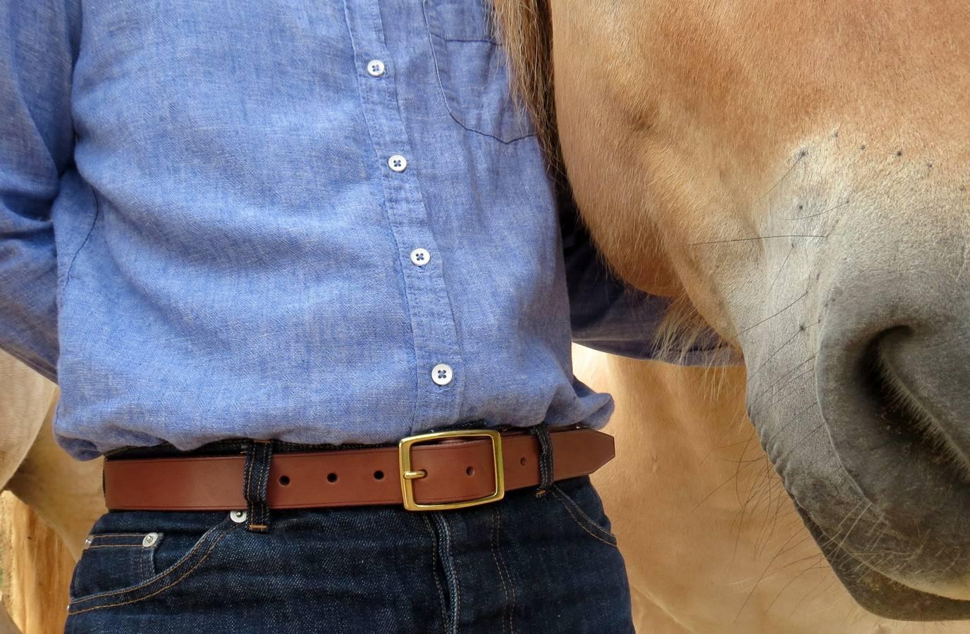 ceinture marron en cuir garantie à vie made in france
