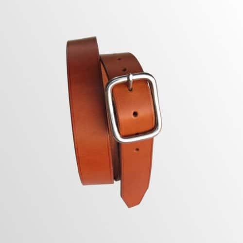 ceinture en cuir avec boucle inox